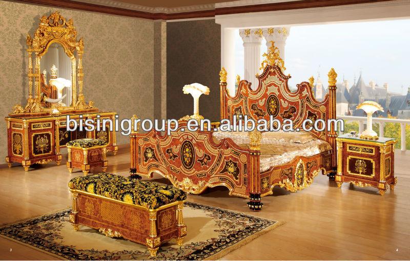 Luxury bedroom set italian royal style wedding furniture - Royal design muebles ...