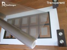 Transparent holographic rear projection foil for digital signage