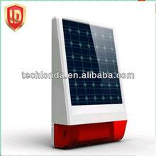 Solar power supply,pro-environment outdoor strobe siren,fashionable and waterproof design