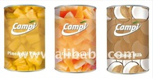 Canned fruits, vegetables, fish