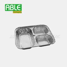 Shanghai Able Packing disposable Silver rectangular aluminum foil fast food box