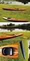 Real tamanho completo canoa de madeira, cedro tira de caiaque