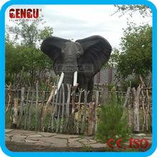 Garden Decoration Fiberglass Elephant Statue