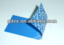 China manufacture custom security stickers,safety tags,security labels