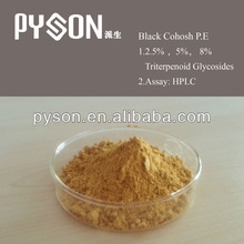 100% natural 2.5% Triterpenoid Glycosides HPLC Black Cohosh P.E.