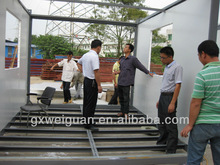 Welded container house with various designs