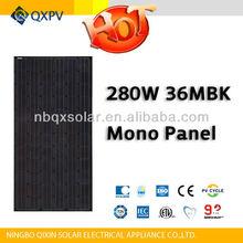 280w black monocrystalline solar panel pv module with TUV IEC CE UL ISO MCS