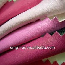 PU Leather Cuero sintetico para 2014 calzado, con 1.0 espesor en varios colores