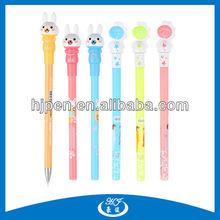 Cute Rabbit Head Plastic Ball Point Pen
