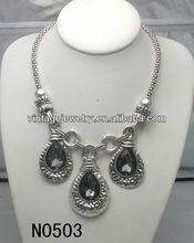 N0503 2015 Fashion Vintage Noble Crystal Pendant Necklace