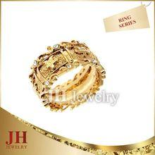 JH Turquoise Stone Ring fashion big heart ring