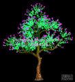 projeto jardim decoração da árvore de luz