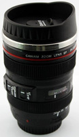 Camera Lens Coffee Mug Caniam 24-105mm Mug 5th With Lock Cover And Stainless Steel Interior