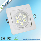 Vinstar factory top sell 7w smd led ceiling light led lighting ceiling AL 30 Deg led ceiling panel light led ceiling down light