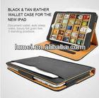 Black & Tan PU Leather Wallet Smart Flip Case Cover fo