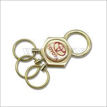 custom metal keychain/heart keychain/gold epoxy colorful chain