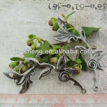 decorative scrapbook 3d metal leaf embellishments