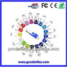 Lowest price capless swivel USB stick custom color and custom logo available