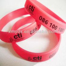 OEM ODM costumbre pulseras de goma,pulseras de silicona,pulseras