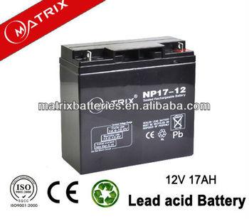 ups 200kva 12v 17ah storage battery plus power