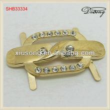 SHB33334 fashion zinc alloy rhinestone shoe buckles