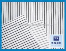 Stretch Stripe Printed 40/1 Poplin White And Black 40 X 40 + 40D / 133 X 72