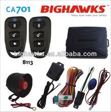 security system car alarm simple Bighawks 8113 low price remote control central door auto lock unlock CA701-8113