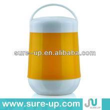 Plastic body vaccum glass inner food storage container