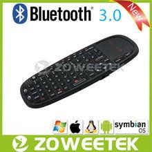 Handheld Design Bluetooth Keyboard Mini Qwerty Keyboard With Mouse Wheel