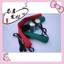 Neoprene 4 Pack Can Beer Bottle Cooler Sling Bag
