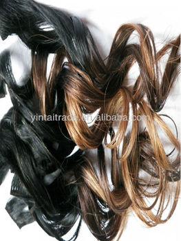 "Carmel Blonde Ombre Clip in Dip Dye 100% Brazilian Human Hair Extensions 1 Black 16"""