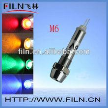 Mini Red DC 24v 6V 12V 36V 110V 220V motorcycle pilot light Metal Pilot lamp 100pcs/lot