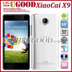 New arrival Xiaocai X9 Quad Core MTK6589 smartphone