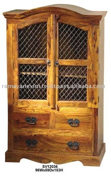 almirah,home furniture,cabinet,living room furniture,bedroom furniture,indian wooden furniture,sheesham,mango,acacia,armoires