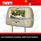 "Tuch screen 7"" car headrest monitor dvd"