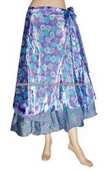 Vintage Silk Wrap skirts