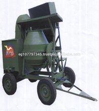 portable diesel engine electric Concrete Mixer with loading hopper & hoist