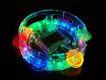 LED Colorful Flashing Promotional Tambourine