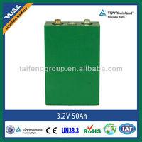 3.2V 50Ah LiFePO4 Battery Cell
