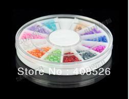 New 2MM Half Pearl Nail Art Rhinestones Glitters Nail Art Gems Decoration 10908