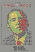 back to back obama rhinestone hot fix heat transfer motif
