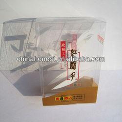 Eco- friendly clear 2b plastic pencil box hot sale