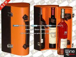 3 bottles leather wine carrier