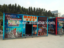 Mobile cabin cinema,theater in truck,5D cabin cinema