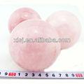natural de cristal de cuarzo rosa bolas fengshui para