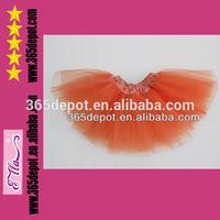 Stock! Cheap Tulle Tutu Skirt ON SALE! Girls Orange Tulle Tutu for Wholesale! Cheap Girls Tutu Dress