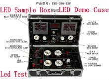 aluminum LED test demo case for cob LED light led floodlight led tube E27 G24 E14 GU10 MR16-380-13P