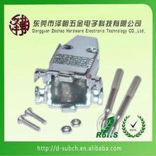DB9 / HD15 (Serial / VGA) Metal Hood Thumb Screws db9 to vga cable