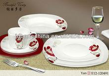 new year gift designed 60pcs 61pcs 72pcs dinner set A B grade pearl royal copenhagen dinnerware