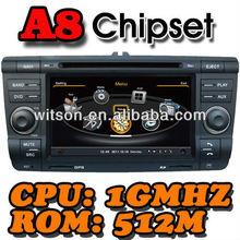 WITSON A8 Chipset SKODA Octavia gps navigation system HD 1080P 1G CPU 512M RAM 3G/ wifi/DVR (Option) with FM,AM,RDS